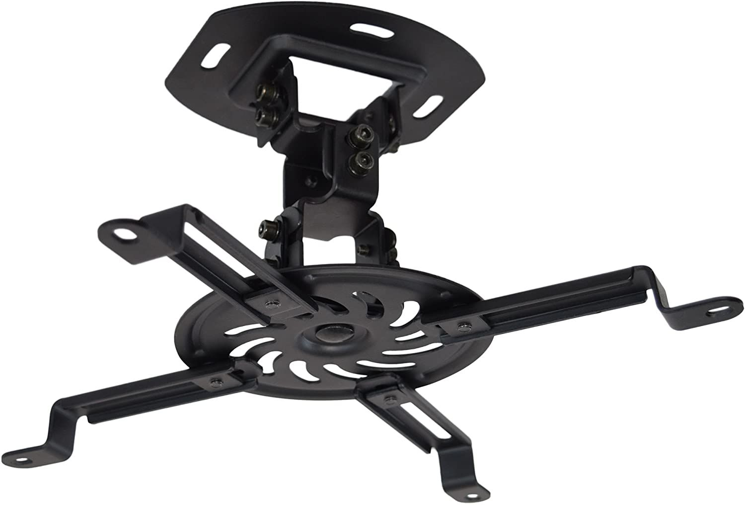 VIVO Universal Adjustable Black Ceiling Projector/Projection Mount Extending Arms